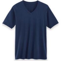Men's John Blair® Cotton V-Neck Undershirt 3-Pack, Navy Blue 4XL found on Bargain Bro from Blair.com for USD $19.75