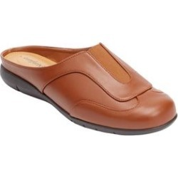 Wide Width Women's The Kailey Mule by Comfortview in Cognac (Size 9 W) found on Bargain Bro Philippines from Woman Within for $47.99