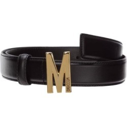 Logo Buckle Belt - Black - Moschino Belts found on Bargain Bro from lyst.com for USD $202.16