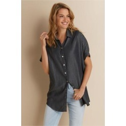 Women Je Veux Shirt by Soft Surroundings, in Grey size 2X (22)