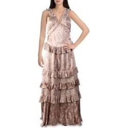 Alexis Womens Rafaela Maxi Dress Paisley Ruffled - Blush Paisley (S), Women's(polyester) found on MODAPINS from Overstock for USD $180.54