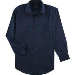 Alfani Mens Performance Button Up Dress Shirt (Blue - 14