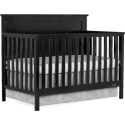 Skyline 5 in 1 Convertible crib in Black - Dream On Me 659-K