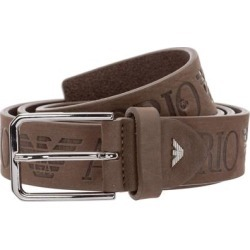Men's Genuine Leather Belt - Brown - Emporio Armani Belts found on MODAPINS from lyst.com for USD $80.00