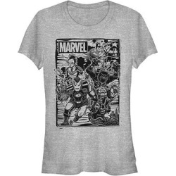 Fifth Sun Women's Tee Shirts ATH - Marvel Athletic Heather Group Fighters Crewneck Tee - Women found on Bargain Bro India from zulily.com for $16.99