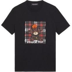 Neil Barrett Mens Punke'd Bear Modal Cotton T-Shirt Small Black found on MODAPINS from Overstock for USD $150.42