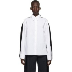 White And Black Cotton And Viscose Shirt - White - MM6 by Maison Martin Margiela Tops found on Bargain Bro from lyst.com for USD $311.60
