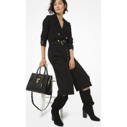 Michael Kors Crepe Trench Jumpsuit Black S found on MODAPINS from Michael Kors for USD $296.25