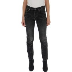 Slim Fit Jeans - Black - Balenciaga Jeans found on Bargain Bro from lyst.com for USD $248.52