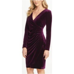 DKNY Purple Long Sleeve Knee Length Sheath Dress Size 8 (Purple - 8), Women's(knit, Solid) found on Bargain Bro India from Overstock for $32.98