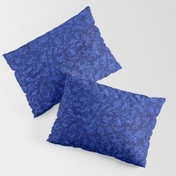 Vintage Floral Sapphire Blue King Size Pillow Sham by Sara Valor - STANDARD SET OF 2 - Cotton found on Bargain Bro from Society6 for USD $30.39