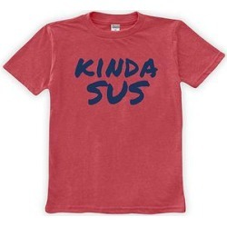 Urban Smalls Boys' Tee Shirts Red - Red 'Kinda Sus' Tee - Toddler & Boys found on Bargain Bro from zulily.com for USD $9.11