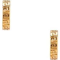Logo Hoop Earrings - Metallic - Versace Earrings found on Bargain Bro from lyst.com for USD $224.20