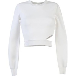Sweater - White - Mugler Knitwear found on MODAPINS from lyst.com for USD $198.00