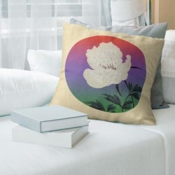Porch & Den Keito Sato 'Vintage Japanese Flower Painting' Throw Pillow found on Bargain Bro from Overstock for USD $47.49