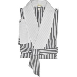 Brioni Mens Blue White Striped Belted Robe (L), Men's(cotton) found on MODAPINS from Overstock for USD $275.00