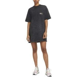 Sportswear Washed T-shirt Dress - Black - Nike Dresses found on Bargain Bro from lyst.com for USD $53.20