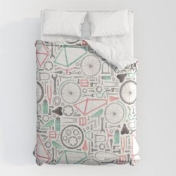 Comforters   Cycling Bike Parts by Elena O'neill - Queen: 88