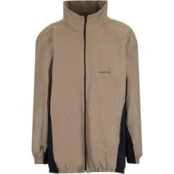 Oversize Tracksuit Jacket - Brown - Balenciaga Jackets found on Bargain Bro from lyst.com for USD $711.36