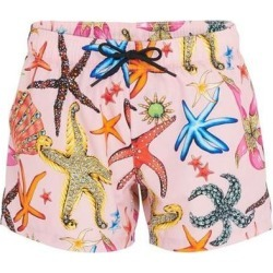 Print Beach Shorts - Pink - Versace Shorts found on Bargain Bro from lyst.com for USD $216.60