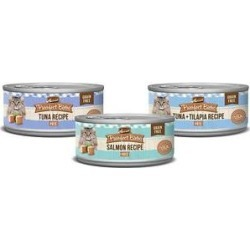 Merrick Purrfect Bistro Tuna, Salmon & Tuna + Tilapia Recipe Variety Pack Grain-Free Pate Canned Cat Food, 3-oz, case of 24