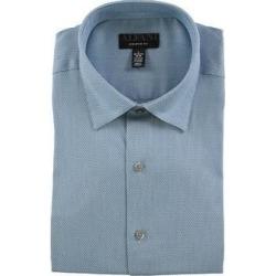 Alfani Mens Performance Stretch Button Up Dress Shirt (Blue - 15