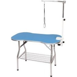 Flying Pig Grooming Bone Shaped Dog & Cat Grooming Table with Arm, Medium, Blue