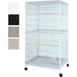 A&E Cage Company Flight Cage Platinum Bird Cage, 40
