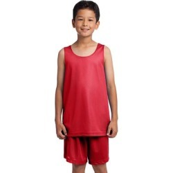 Sport-Tek YST500 Athletic Youth PosiCharge Classic Mesh Reversible Tank Top in True Red size Large | Polyester found on Bargain Bro from ShirtSpace for USD $5.88