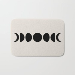 Bath Mat   Minimal Moon Phases - Black And White by Colour Poems - 17