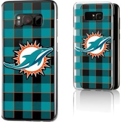 Miami Dolphins Galaxy Clear Case with Plaid Design found on Bargain Bro Philippines from nflshop.com for $32.99
