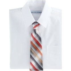 Men's Marquis Signature Tie & Pocket Square, White found on Bargain Bro from Blair.com for USD $15.19
