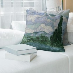 Porch & Den Vincent Van Gogh 'Wheatfield with Cypresses' Throw Pillow found on Bargain Bro from Overstock for USD $35.90