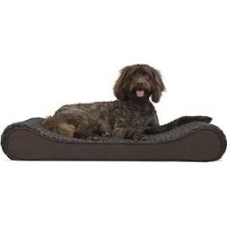 FurHaven Ultra Plush Luxe Lounger Orthopedic Cat & Dog Bed w/Removable Cover, Chocolate, Large found on Bargain Bro India from Chewy.com for $46.97