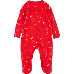 Baby Nike Sports Ball Zip Footed Sleep & Play, Infant Boy's, Size: 6 Months, Brt Red found on Bargain Bro from Kohl's for USD $9.11
