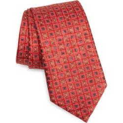 Quadri Colorati Square Medallion Silk Tie - Red - Ermenegildo Zegna Ties found on Bargain Bro India from lyst.com for $195.00