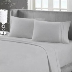 Maison Condelle - Bamboo Softness Bed Sheet Set (Silver - Full) found on Bargain Bro from Overstock for USD $24.27