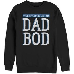 Fifth Sun Men's Pullover Sweaters BLACK - Black 'Working Hard On This Dad Bod' Pullover - Men found on Bargain Bro from zulily.com for USD $15.19