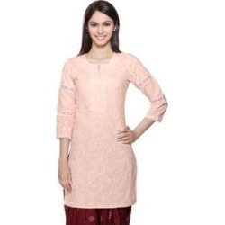 Handmade In-Sattva Womens Indian Ethnic Kurta Tunic Lace & Sequins Work (India) (xs - Orange), Women's found on Bargain Bro Philippines from Overstock for $27.89