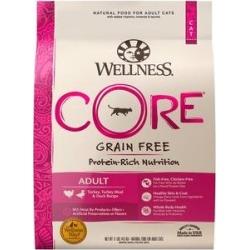 Wellness CORE Grain-Free Turkey, Turkey Meal & Duck Formula Dry Cat Food, 11-lb bag
