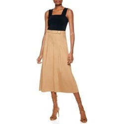 Scarlet High Rise Wide Leg Pants - Brown - Alice + Olivia Pants found on MODAPINS from lyst.com for USD $75.00
