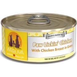 Weruva Classics Paw Lickin' Chicken with Chicken Breast in Gravy Wet Dog Food, 5.5 oz., Case of 24, 24 X 5.5 OZ