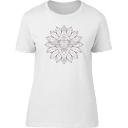 Diamond Heart Mandala Tee Women's -Image by Shutterstock (XL), White(cotton, Graphic) found on Bargain Bro Philippines from Overstock for $13.29