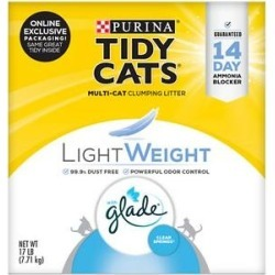 Tidy Cats Lightweight Glade Scented Clumping Clay Cat Litter, 17-lb box found on Bargain Bro from Chewy.com for USD $15.94