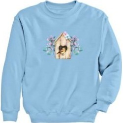 Women's Plus Graphic Sweatshirt – Birdhouse, Light Blue/Birdhouse 3XL found on Bargain Bro from Blair.com for USD $24.31