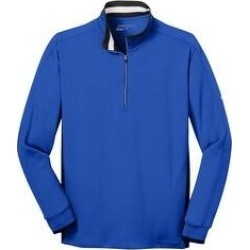 Nike Men's Dri-FIT 1/2-Zip Warm Up Jacket (Game Royal/ Black/ White - M), Blue(knit, Solid) found on Bargain Bro from Overstock for USD $58.51