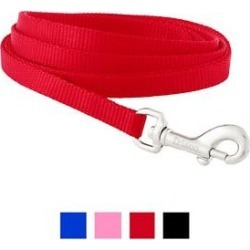 Frisco Solid Nylon Dog Leash, Red, X-Small: 6-ft long, 3/8-in wide found on Bargain Bro India from Chewy.com for $6.99