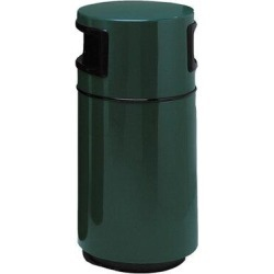 Witt Side Entry Round Series Receptacle 25 Gallon Trash CanFiberglass in Green, Size 38.0 H x 18.0 W x 18.0 D in   Wayfair 7C-1838T2-PD-28 found on Bargain Bro Philippines from Wayfair for $679.99