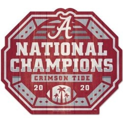 WinCraft Alabama Crimson Tide College Football Playoff 2020 National Champions 11'' x 11'' Logo Shaped Wood Sign, Multicolor found on Bargain Bro Philippines from Kohl's for $19.99