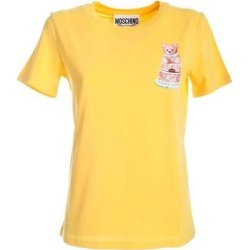 Cake Teddy Bear T-shirt - Yellow - Moschino Tops found on MODAPINS from lyst.com for USD $150.00
